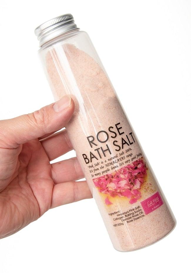 岩塩ローズバスソルト【ラ・ロッサ 】 4 - これくらいのサイズ感になります。