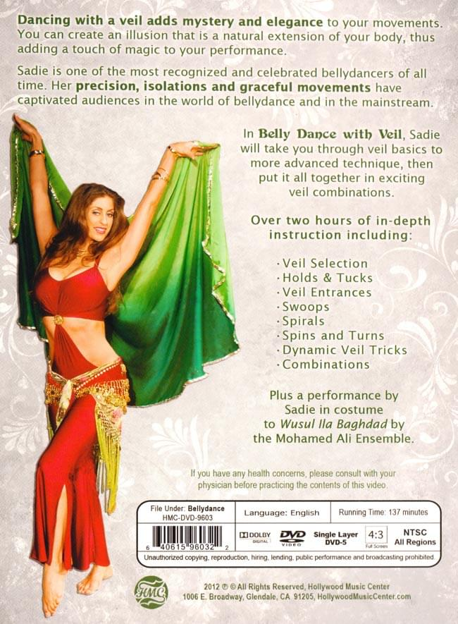 Belly Dance with Veil - Technique and Combinations with Sadie 2 -