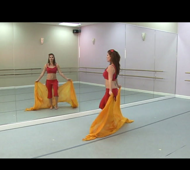BELLY DANCE CHOREOGRAPHY - THE Triple Threat Set[DVD] の写真3 - 映像はこんな感じです