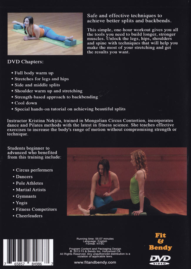 GET BENT - Circus Style Flexibility Training 2 - 裏面です