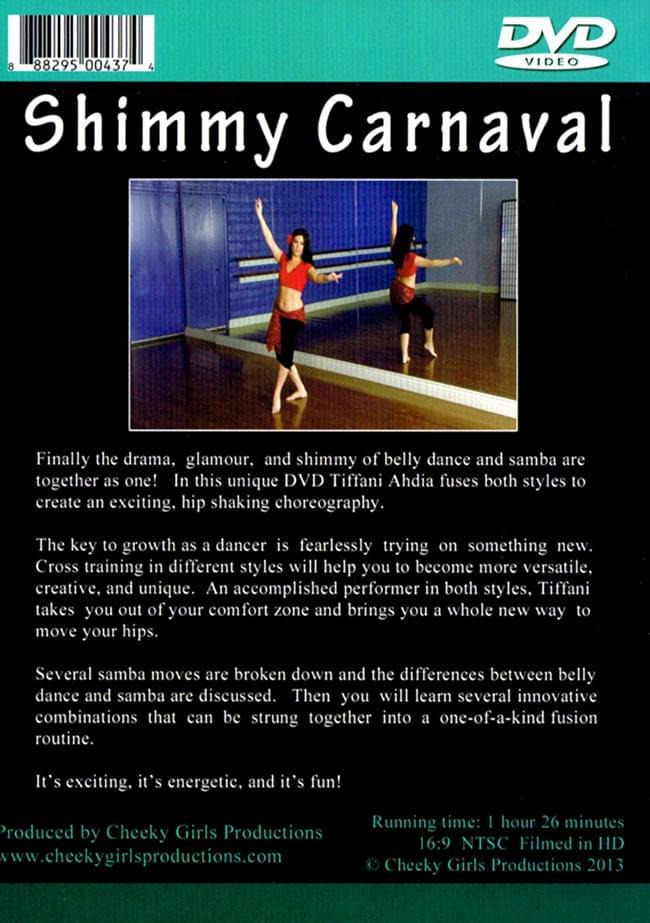 [DVD]Sassy Samba Belly Dance Fusion - Shimmy Carnaval 2 - 裏面のジャケットです