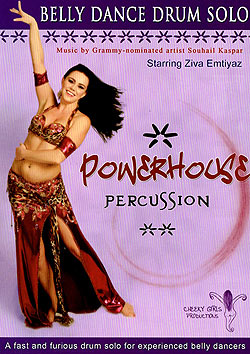 [DVD]Powerhouse Percussion:A Fast and Furious Belly Dance Drum Solo - Ziva Emtiyaz(DVD-BELLY-275)