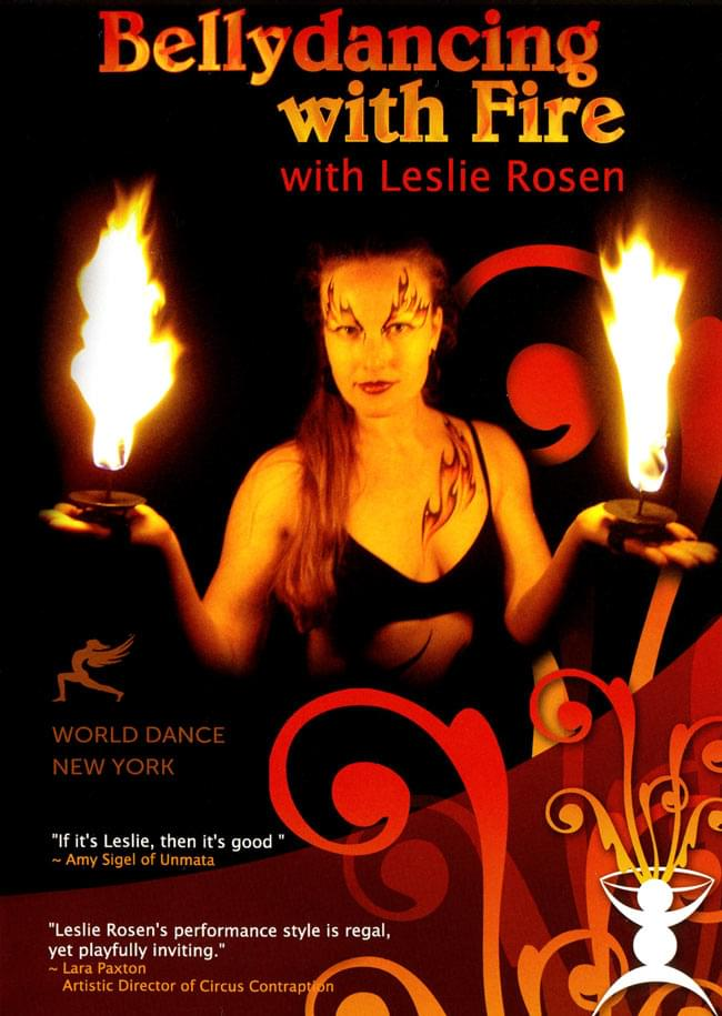 Bellydancing with Fire with Leslie Rosenの写真