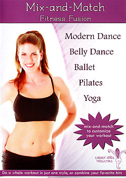 Mix and Match Fitness Fusion(Modern Dance,Belly Dance,Ballet,Pilates,Yoga)(DVD-BELLY-299)