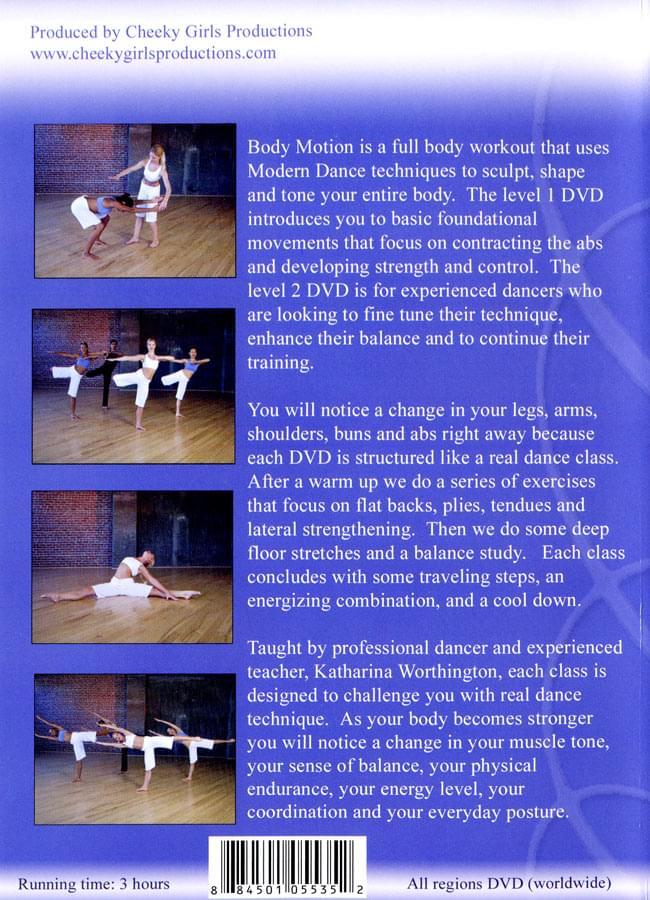 【2枚組】Body Motion Modern Dance Workout 2 - 裏面のジャケットです