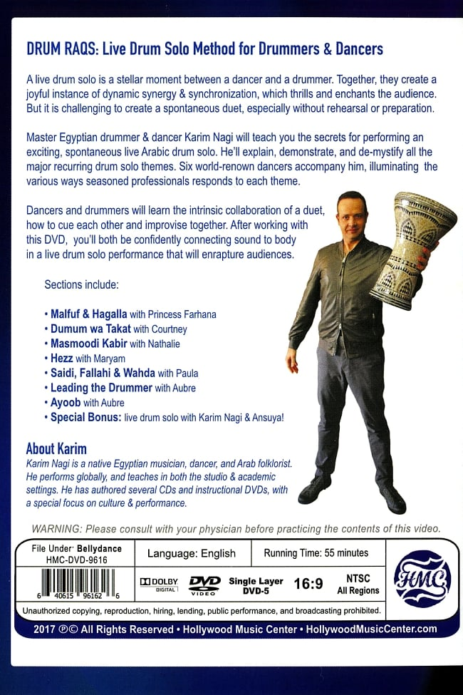 Karim Nagi presents Drum Raqs - Live Drum Solo Method for Drummers & Dancers 2 -