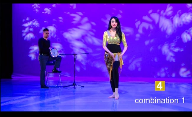 Magency ORIENTAL DANCE ENTRANCE ROUTINE Rhythms Technique Choreography with Shahrzad[DVD]の写真4 -