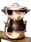 クスクス用鍋 - 銅製 4,0L(4〜6人用)