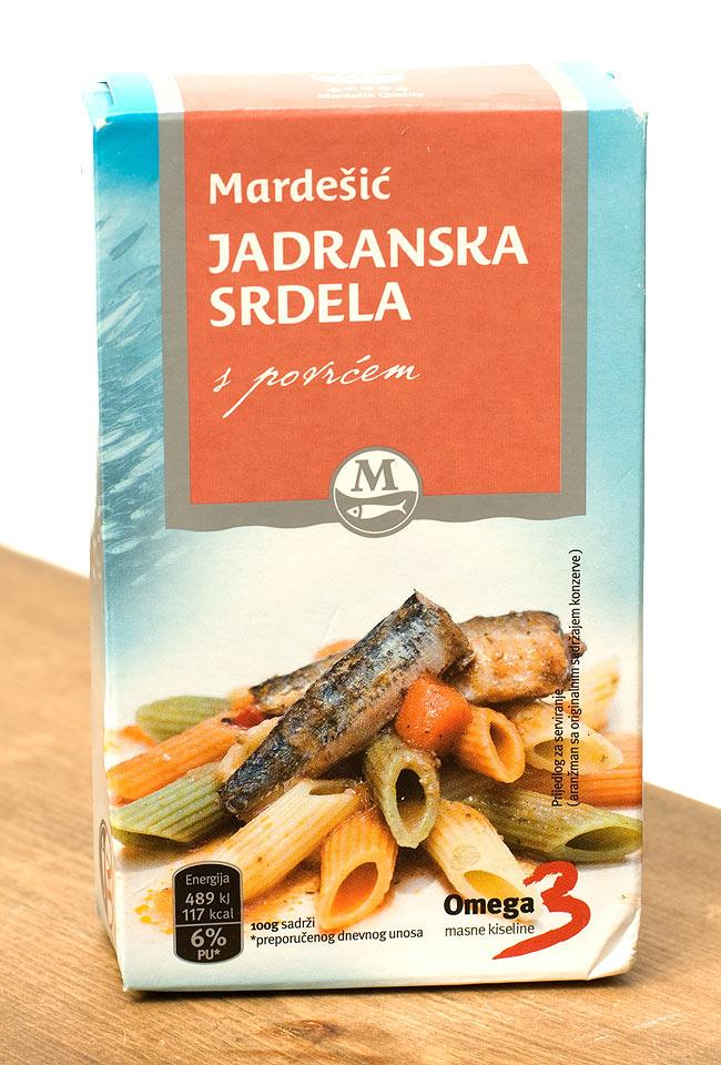 サーディン缶 トマトソース入 - Sardines in Tomato Sauce 【Adriatic】の写真