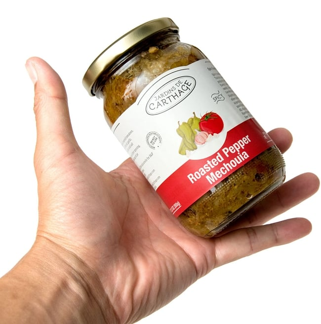 チュニジア風焼きピーマン ‐ メシュイヤスパイシー 辛口 -【JARDINS DE CARTHAGE】 3 - 手に持ってみました。約1,2回分のお手頃な量です。
