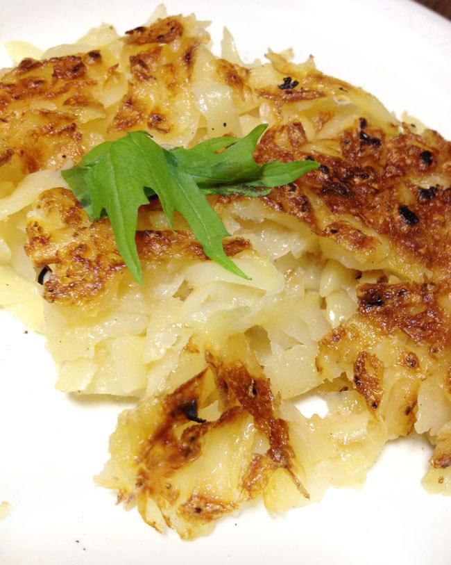 スイス料理 ロスティ - Roschti 【Hero】 4 - フライパンでこんがり焼いてお召し上がりください。外は、カリカリ中は、ほくほくで美味しいですよ。