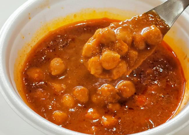 Chana Masala - ひよこ豆の辛口カレー 4 - 実際に中を開けてみました