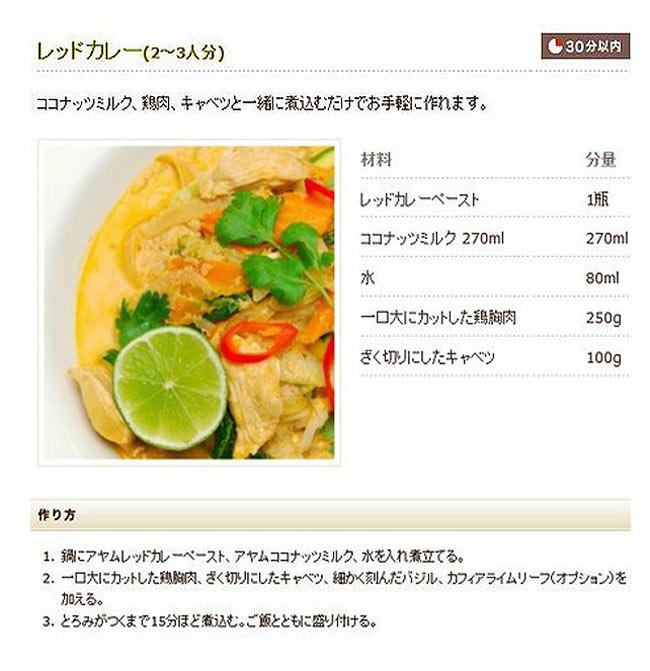 タイ レッドカレー ペースト - Thai Red Curry Paste 【AYAM】の写真3 - 写真