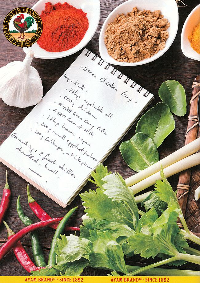 アジアン クッキング トリップ - ASIAN COOKING TRIP RECIPE BOOK 【AYAM】の写真2 - 裏表紙には、スパイスとレシピが・・