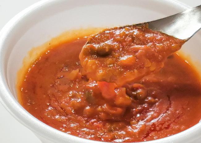 Pav Bhaji - ジャガイモと野菜のカレー[MTRカレー] 4 - 実際に中を開けてみました