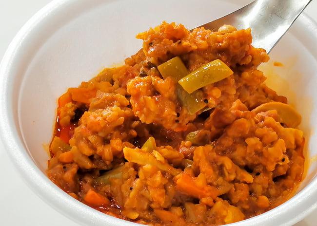 Bisibele Bhath - 豆とスパイスの炊き込みご飯 3 - 実際に中を開けてみました