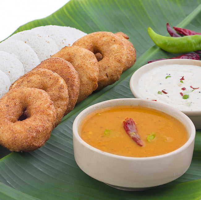 サンバルカレーパウダー Sambar Curry Powder 【MTR】 7 - 南インドではこの様にサーブされてきます