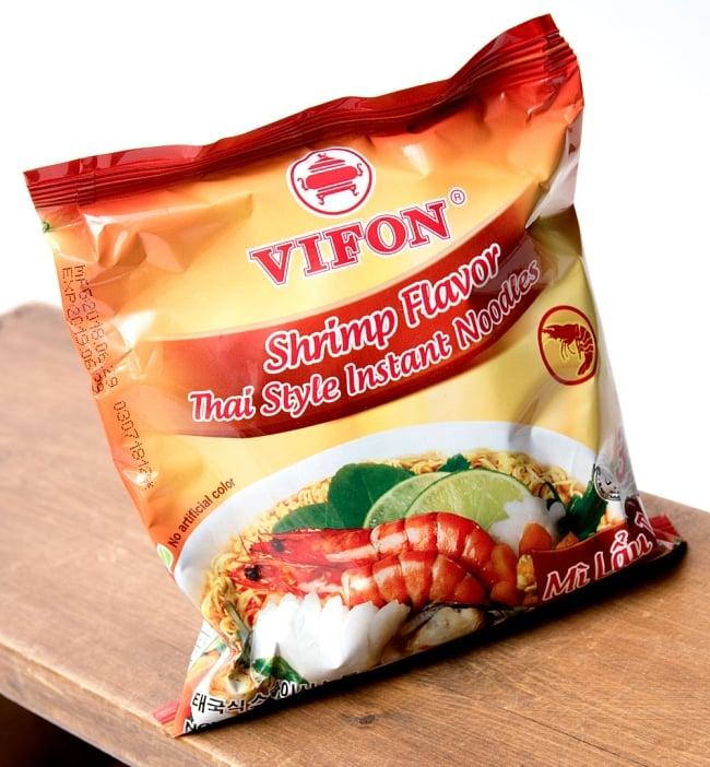 タイスキ風ベトナム・ミー (袋) 【VIFON】 シュリンプ味 - MI Lau Thai 2 - アングルを変えて撮影しました