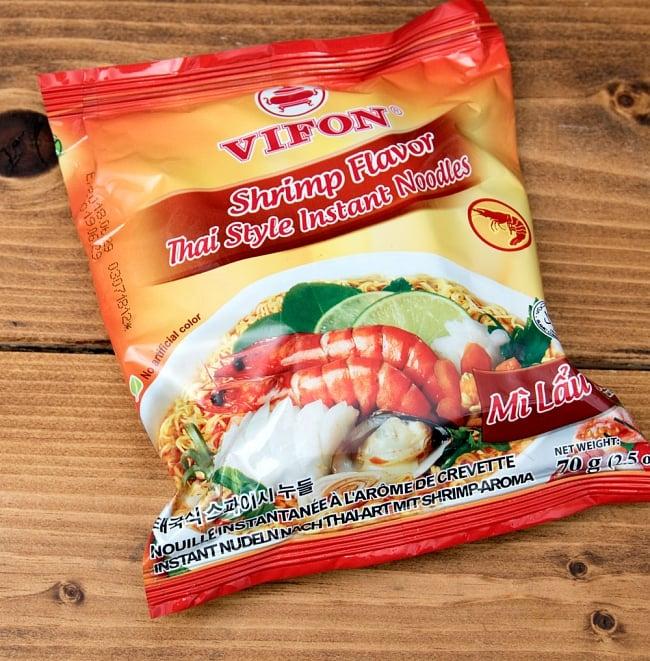 タイスキ風ベトナム・ミー (袋) 【VIFON】 シュリンプ味 - MI Lau Thaiの写真