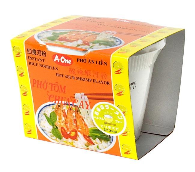 ベトナム・フォー インスタント カップ 【A-One】 ピリ辛エビ味の写真