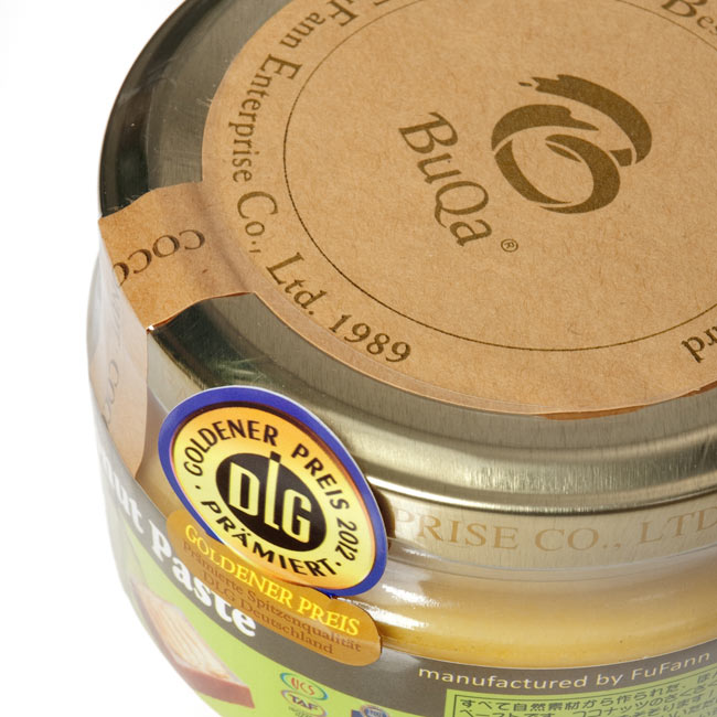 ココナッツペースト 130g 【BuQa】 2 - 美味しそうなタブがついています。