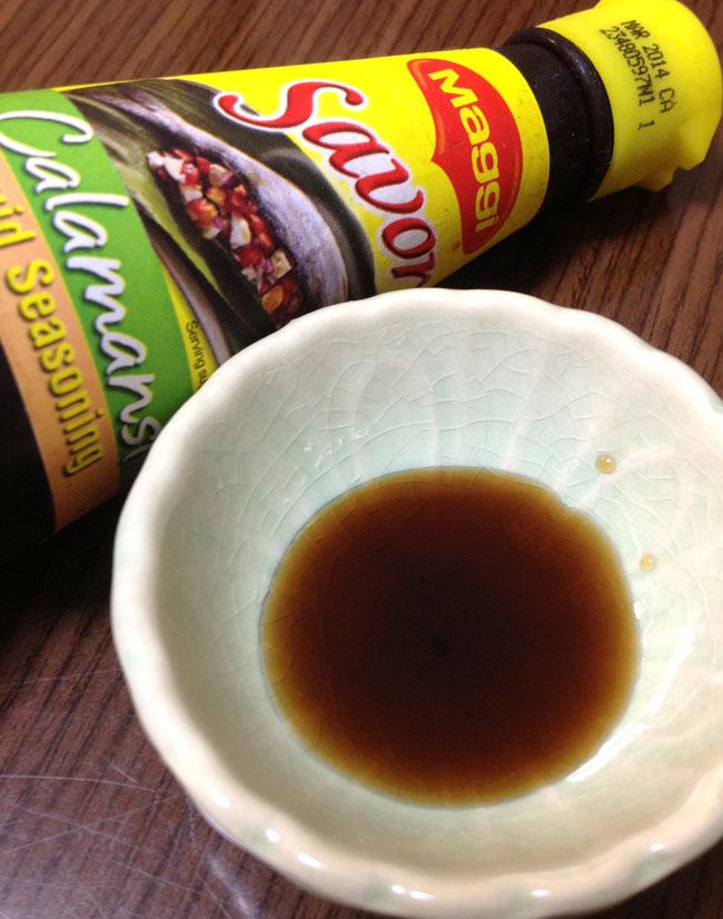 シーズニング ソース カラマンシー - Liquid seasoning Calamansi 【Savor】 2 - 日本で言う、ダシ醤油の様なものです。つけダレ、炒めもの、色々使えます。