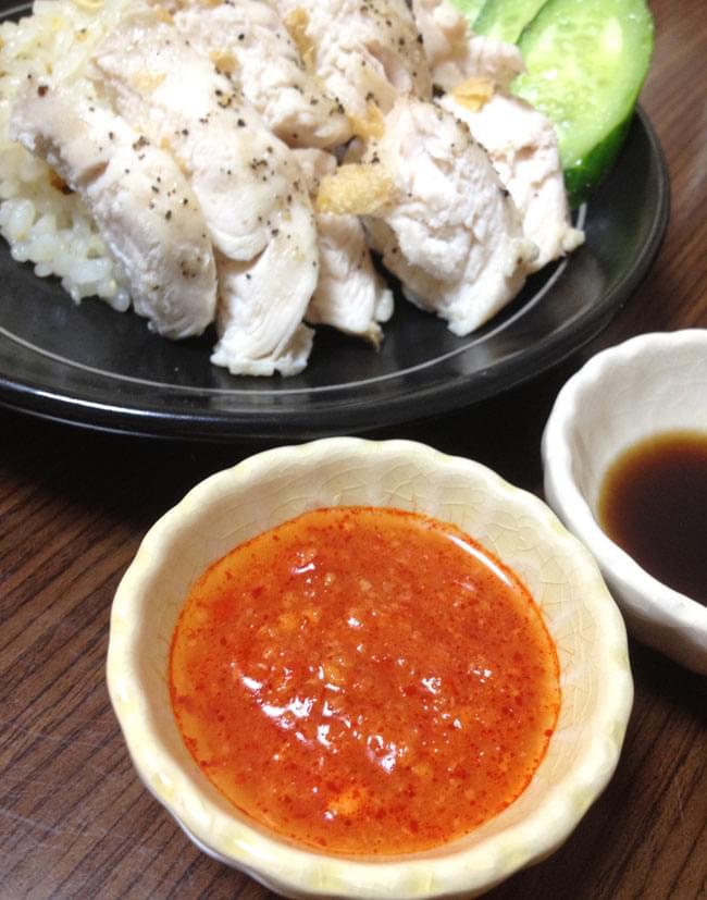 海南チキンライスのタレ - シンガポールチリソース 【YEOs】 3 - 現地の調味料を使えば、現地の味を忠実に再現出来ますよ〜。あたりまえかぁ・・・