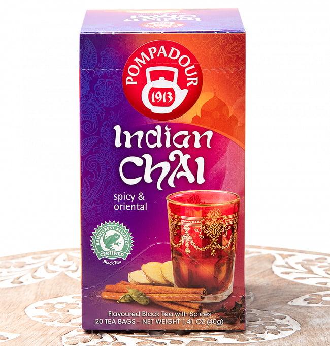 インディアン チャイ クラシック ティーバック 【20パック】 【Pompadour】の写真