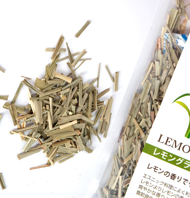 レモングラス リーフ カット【Tea Boutique】 2 - レモンの香りがするハーブ。タイ料理によく使われます。