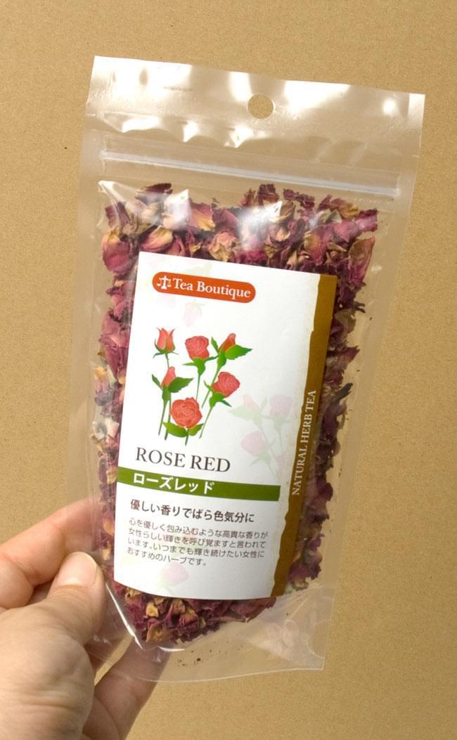 ローズ レッド フラワー 【Tea Boutique】の写真3 - ポプリやお風呂、お茶に等に、色々な用途にお使いいただけます。