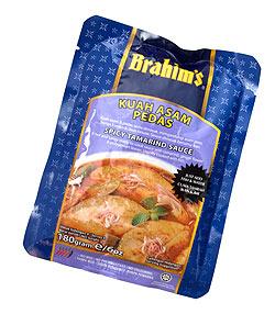 マレーシア料理の素 - アッサムプダスソース - Kuah Assam Pedas 【Brahim】(FD-LOJ-268)
