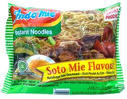 インスタントヌードル  -ソトミー味-インドネシア スープ 【Indo mie】