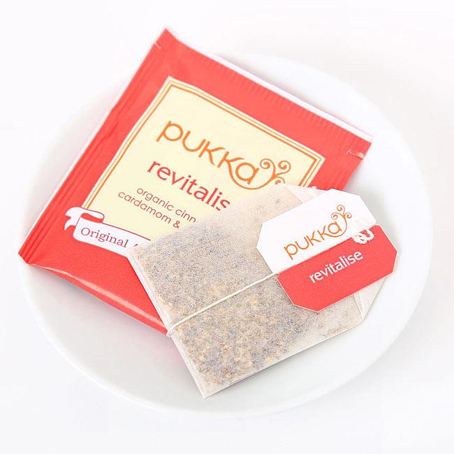 【PUKKA】 revitalise(カパ) - オーガニックハーブティ- 2 - しっかりした個包装で、一箱に20袋入っています。こちらのデザインとは違う場合がございます。その場合は、何卒ご了承下さい。