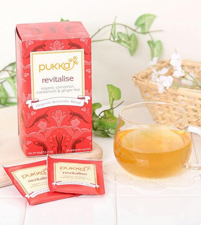 【PUKKA】 revitalise(カパ) - オーガニックハーブティ- 3 - シナモンとジンジャーの香りが素晴らしく、ピリリとした味が刺激的です。