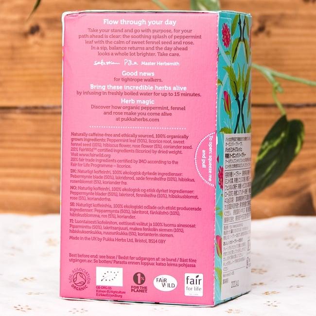 【オーガニック】 -mint refresh- -ペパーミント,リコリス&フェンネル-【PUKKA】 2 - 手に持ってみました。一箱に20袋入っています