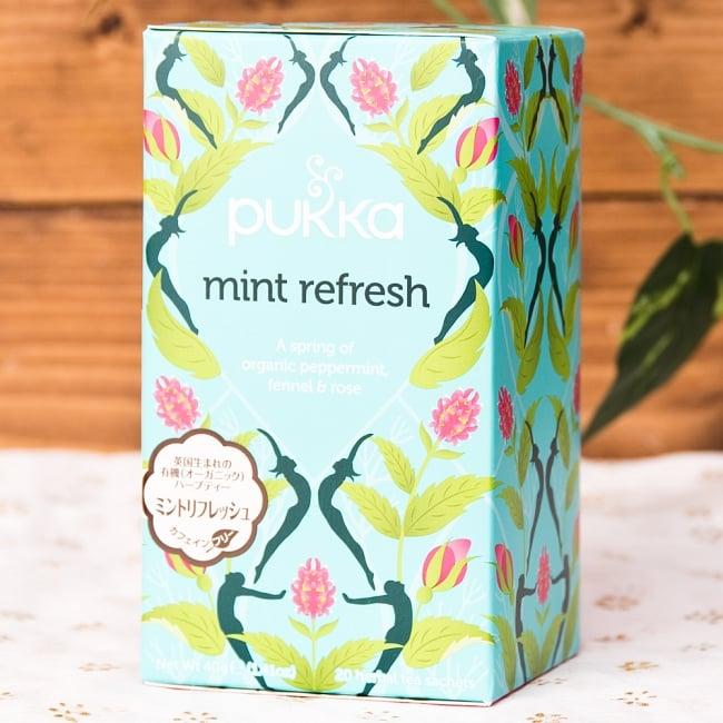 【オーガニック】 -mint refresh- -ペパーミント,リコリス&フェンネル-【PUKKA】の写真