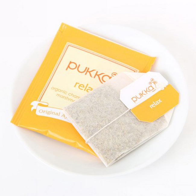 【PUKKA】 relax(ヴァータ) - オーガニックハーブティー(カフェインフリー) 2 - しっかりした個包装で、一箱に20袋入っています。こちらのデザインとは違う場合がございます。その場合は、何卒ご了承下さい。
