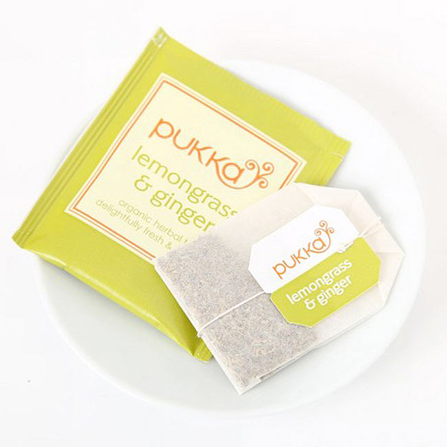 【PUKKA】 lemongrass & ginger - オーガニックハーブティー(カフェインフリー) 2 - しっかりした個包装で、一箱に20袋入っています。こちらのデザインとは違う場合がございます。その場合は、何卒ご了承下さい。