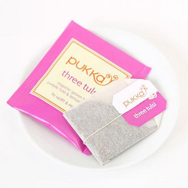 【PUKKA】Tulsi Clarity - オーガニックハーブティー(カフェインフリー)  2 - しっかりした個包装で、一箱に20袋入っています。(写真は別商品です。)