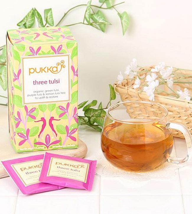 【PUKKA】Tulsi Clarity - オーガニックハーブティー(カフェインフリー)  3 - スッキリした香りの中にトゥルシーの風味を楽しめます。(写真は別商品です。)