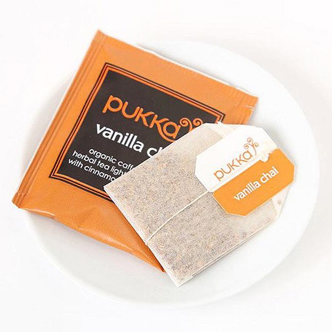 【PUKKA】 vanilla chai - オーガニックハーブティー(カフェインフリー)  2 - しっかりした個包装で、一箱に20袋入っています。こちらのデザインとは違う場合がございます。その場合は、何卒ご了承下さい。