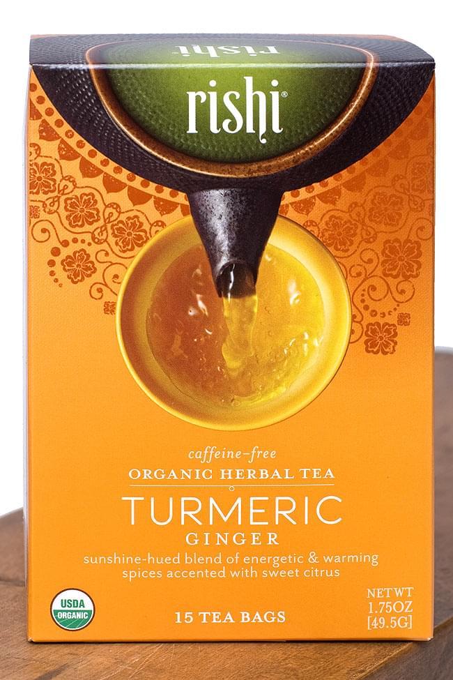ターメリックジンジャーティー(リシティ・有機ターメリック) - Rishi Turmeric Tea 【Rishi Tea】の写真