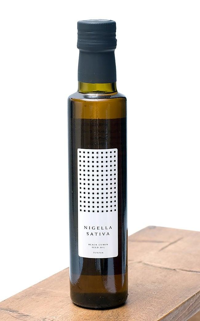ブラック クミン シード オイル コールドプレス バージンエキストラ - ニゲラサチバ種子油 低温圧搾一番搾りの写真