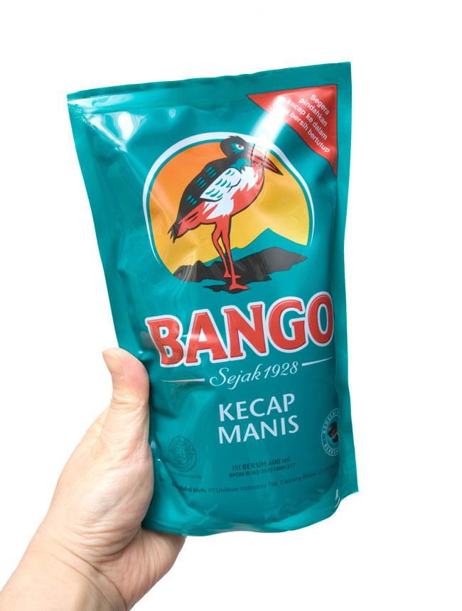 ケチャップマニス・エコパック (甘口醤油) - Kicap Manis Eco Pack 【BANGO】の写真2 - 手に持ってみました。ボトル入りよりもお得なお値段。しかも、エコなパックで小さなゴミに出来ます。