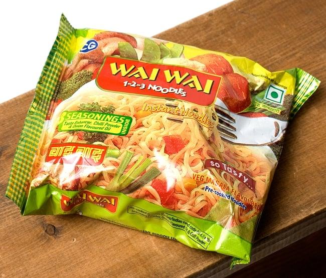 WAIWAI Noodles - インドのインスタントヌードル【ベジ・マサラ味】 4 - パッケージ写真です