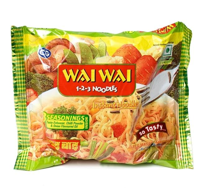 WAIWAI Noodles - インドのインスタントヌードル【ベジ・マサラ味】の写真