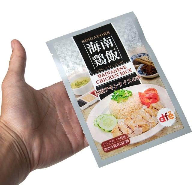 海南鶏飯チキンライスの素 - HAINANESE CHICKEN RICE  4 - サイズ比較のために手に持ってみました