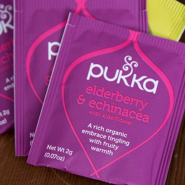 【PUKKA】 オーガニックハーブティー【4種類入り】ハーバルコレクション 7 - elderberry and echinacea