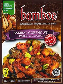 インドネシア料理 サンバルゴレンアティの素 - SAMBAL GORENG ATI 【bamboe】(FD-LOJ-65)
