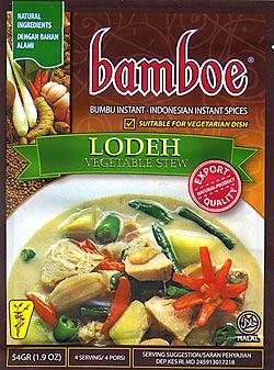 インドネシア料理 ロデの素 - LODEH 【bamboe】(FD-LOJ-68)
